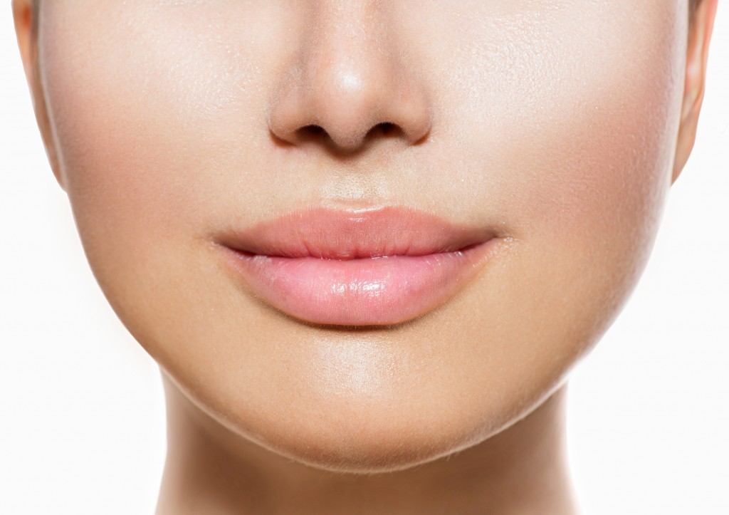 21386634 - beautiful perfect lips  sexy mouth closeup over white